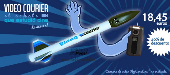 Oferta cohete espacial video courier